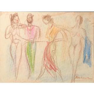 Four Women Bertalan Bodnar 1960s