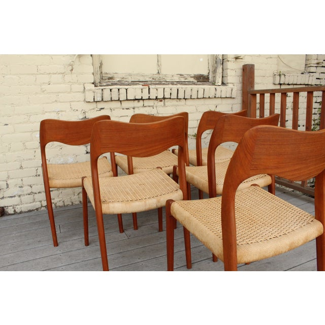 Moller Model 71 Teak Dining Chairs - Set of 6 - Image 6 of 11