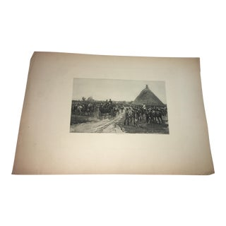 1881 Edouard Detaille Military Scene Lithograph
