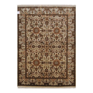 "Traditional Persian Farahan Design Area Rug With Floral Patterns and Border - 5'1"" X 6'11"""