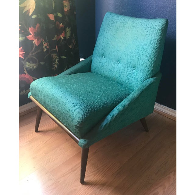 Teal Kroehler Slipper Chair - Image 3 of 8