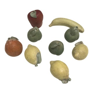 Italian Terra Cotta Fruits - Set of 9