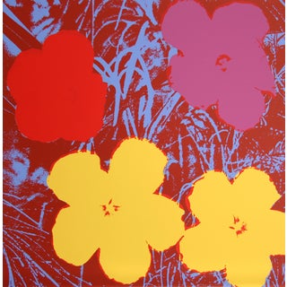 Andy Warhol, Flowers 9, Sunday B. Serigraph