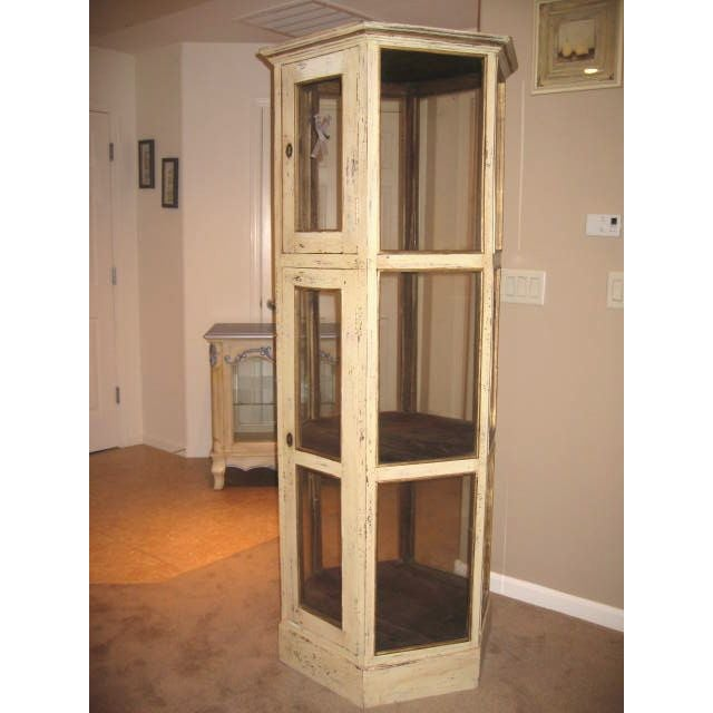 Pine Wood Curio Display Cabinet - Image 2 of 7
