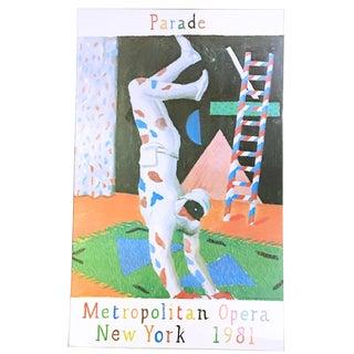 """David Hockney 1981 """"Parade"""" Exhibition Poster"""