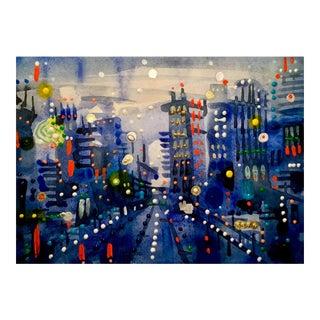 Broadway Original Watercolor Painting