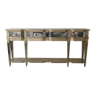 Mirrored Gold Console Table