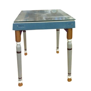 Antique Stained Glass Window Tables