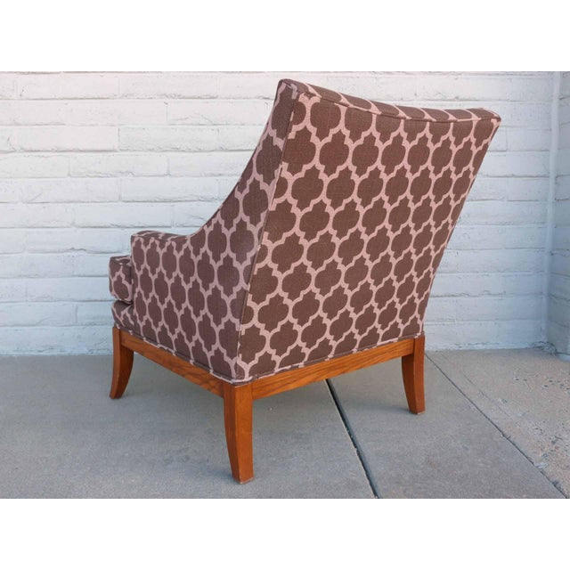 Kravet Furniture Upholstered Lounge Chairs With Wood Frame - A Pair - Image 5 of 7