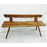 Image of Antique Wooden Farm Bench