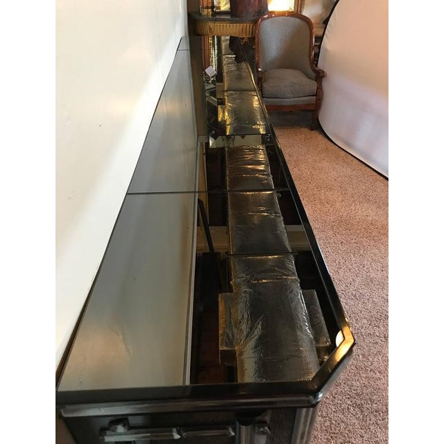 Hollywood Regency All Mirrored Sideboard Cabinet - Image 4 of 11