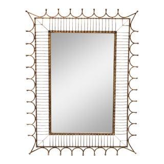 Gold/ Brass Metal Framed Modern Rectangular Wall Mirror
