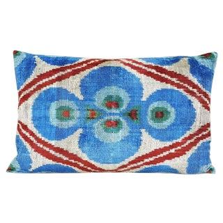 Custom Silk Velvet Ikat Accent Pillow