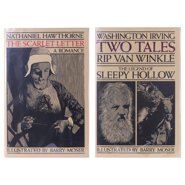 Hawthorne and Irving, 2 Moser Illustrated Volumes - Image 1 of 8