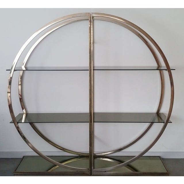 Image of 1970's 2 Piece Brass Étagère