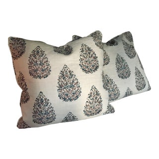 John Robshaw Block Print Pillow Covers - A Pair