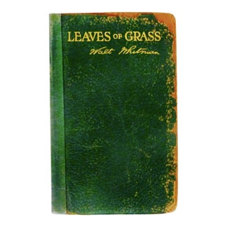 Leaves of Grass Book by Walt Whitman, 1900