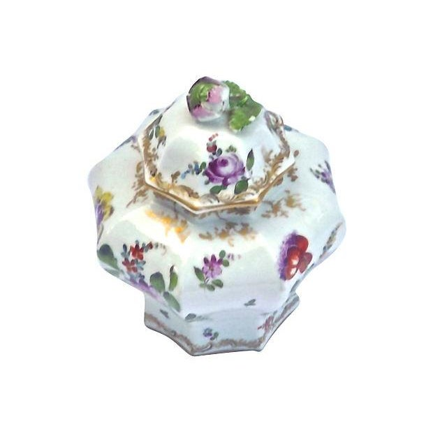 Antique Meissen Floral Lidded Jar - Image 2 of 7