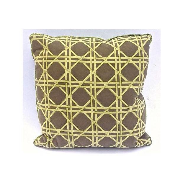 How To Make A Basket Weave Pillow : Vintage grass basket weave pattern pillow chairish