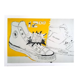 "Andy Warhol Original Lithograph Pop Art Poster ""Converse Xtra Special Value"", 1985"