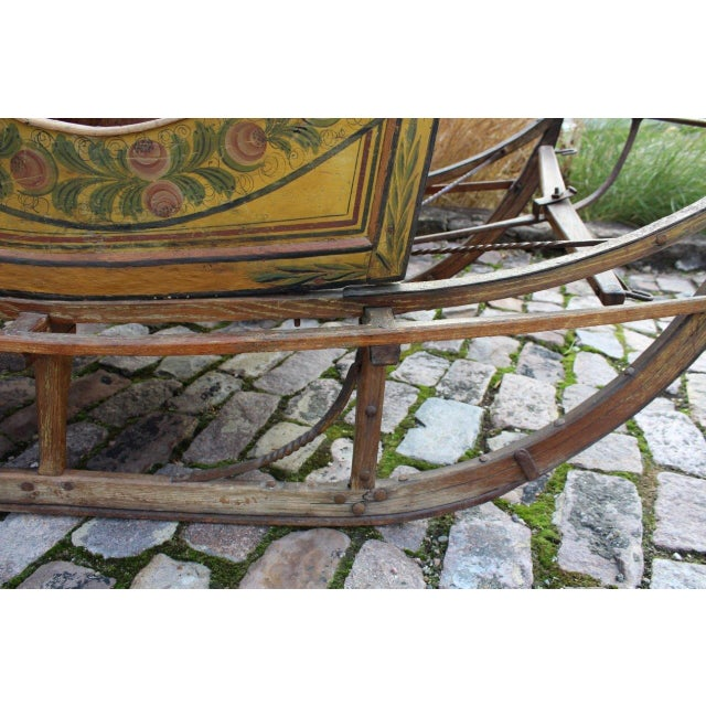 Image of Paint-Decorated Sleigh