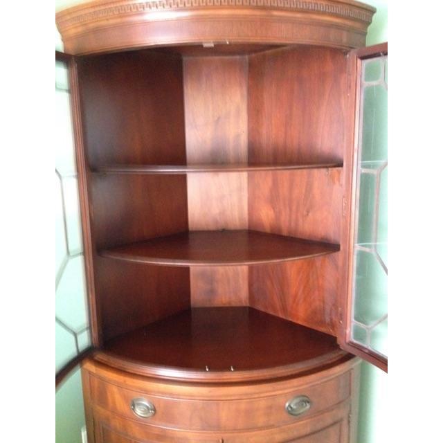 Image of Drexel Mahogony Corner Cabinet