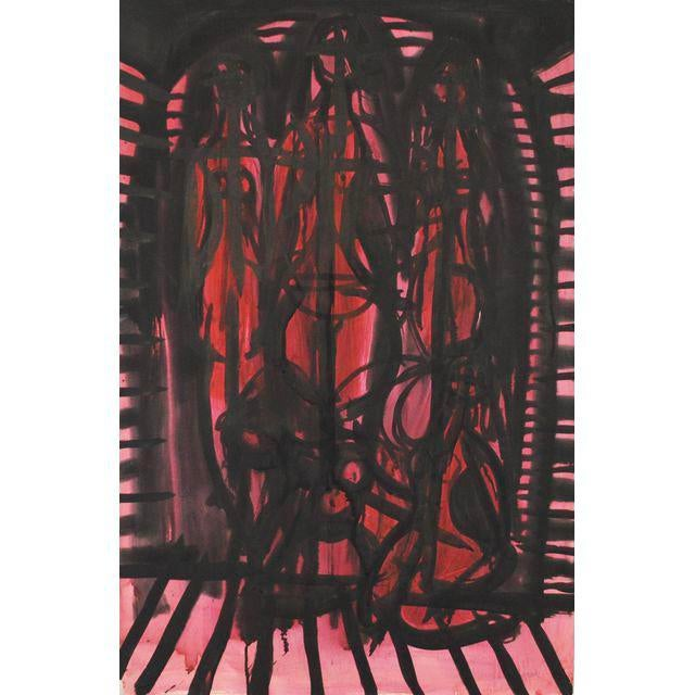 1952 Abstract Figurative Painting by Robert Gilberg - Image 4 of 4