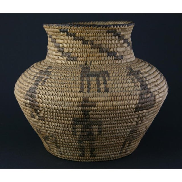 Pima Figurative Basketry Olla, circa 1920 - Image 3 of 7