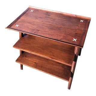 American of Martinsville Mid Century 3 Tiered Side Table