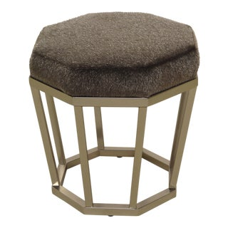 Johathan Louis Brushed Nickel Foot Stool