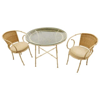 Mid-Century Shaver Howard Faux Bamboo Bistro Set