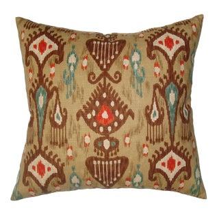 Large Ikat Printed Down Pillow