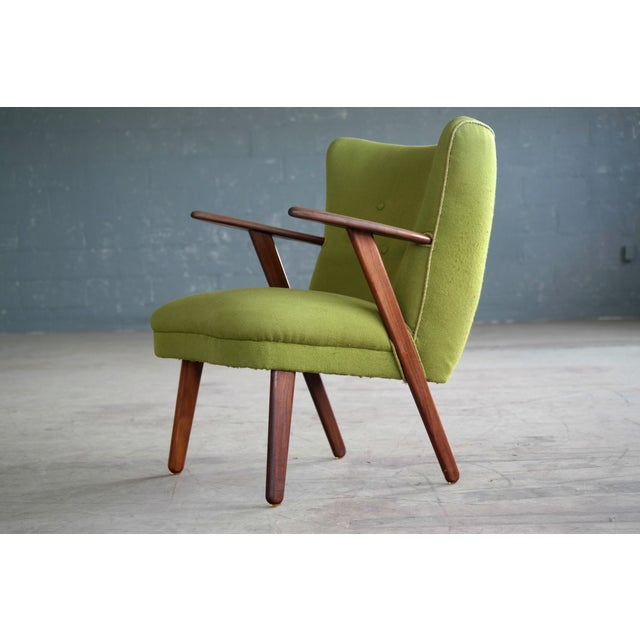 Danish Mid-Century Easy Chair in the Style of Madsen and Schubel - Image 3 of 9