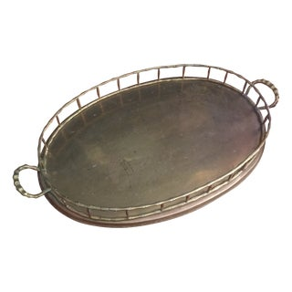 Brass Bamboo-Style Serving Tray