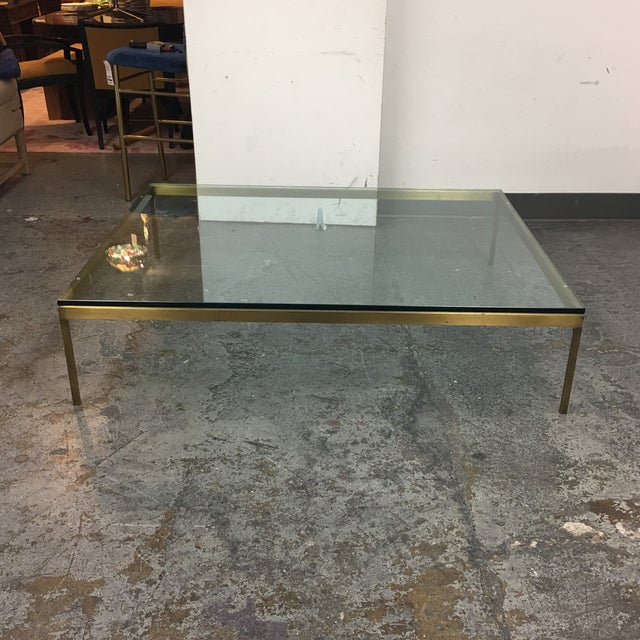 Brushed Brass & Glass Coffee Table