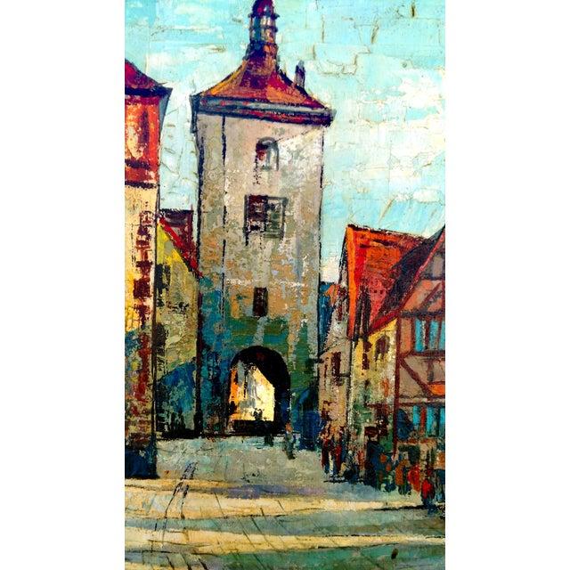 Rustic Street Scene Painting by Geo Koppany - Image 5 of 9