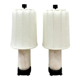 Austrian Art Deco Table Marble Lamps - A Pair