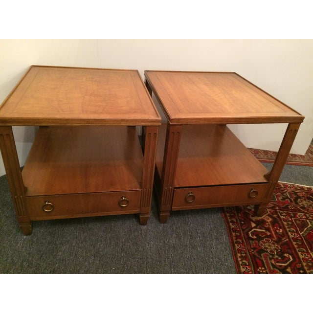 Baker Mid-Century Tables - Pair - Image 2 of 6
