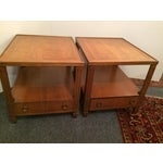 Image of Baker Mid-Century Tables - Pair