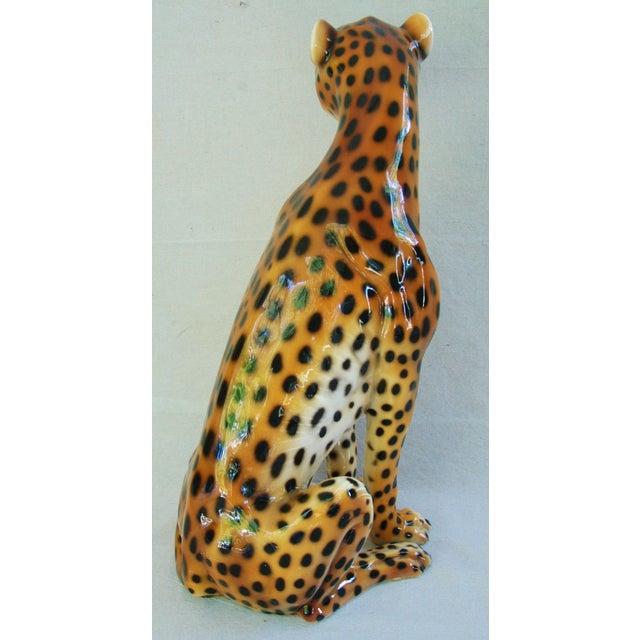 Large Hollywood Glam Mid-Century Italian Cheetah - Image 8 of 11