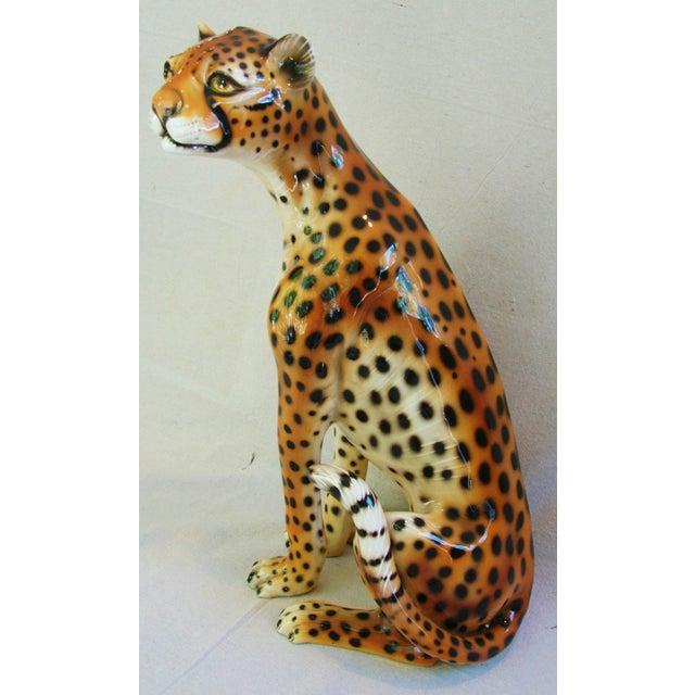 Large Hollywood Glam Mid-Century Italian Cheetah - Image 4 of 11