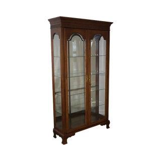 Jasper Traditional Oak Lighted Display Curio Cabinet