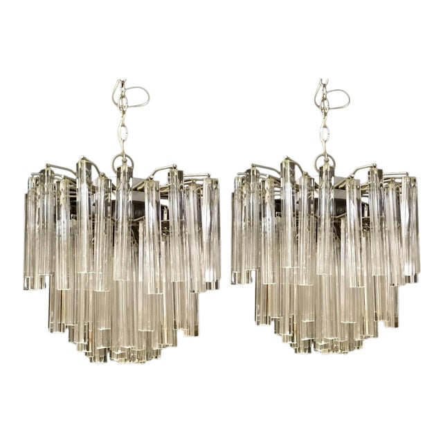 Venini Crystal Chandeliers - A Pair - Image 1 of 11