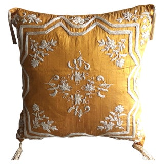 Copper Silk Embroidered Accent Pillow Cover