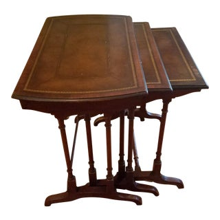 Mahogany Stacking Side Tables - Set of 3