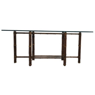 McGuire Bamboo & Glass Console