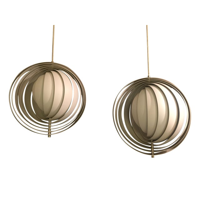 Verner Panton Moon Pendants- A Pair - Image 1 of 7