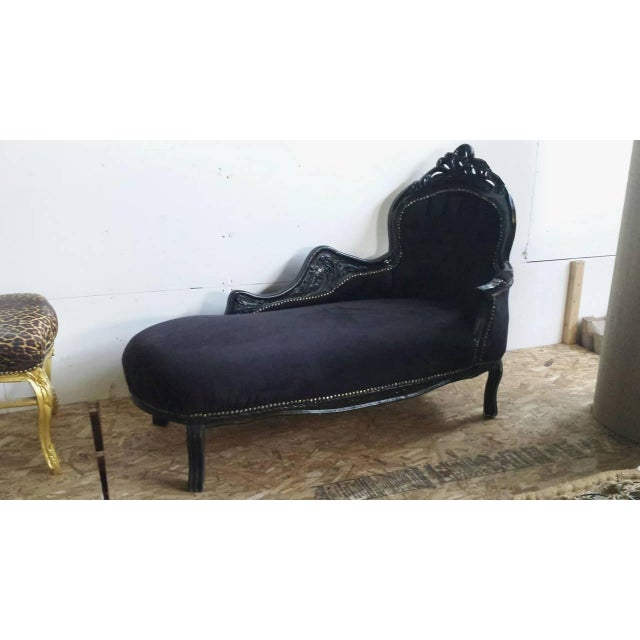 french louis xv style chaise longue chairish. Black Bedroom Furniture Sets. Home Design Ideas