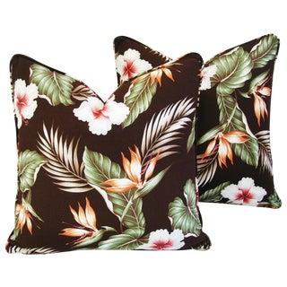Hibiscus & Bird of Paradise Pillows - A Pair
