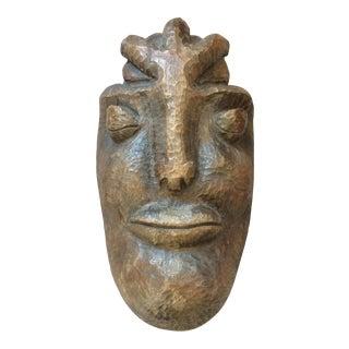 Mid-Century Carved Wood Mask
